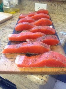 salmon planks